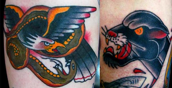 As tattoos tradicionalíssimas do Henrique Véio