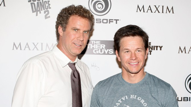 "SAN DIEGO - JULY 23: Actors Will Ferrell (L) and Mark Wahlberg attend Maxim, Ubisoft, and Sony Pictures Celebrate the Cast of ""The Other Guys"" at Comic-Con 2010 held at Hotel Solamar on July 23, 2010 in San Diego, California. (Photo by Robert Benson/WireImage)"