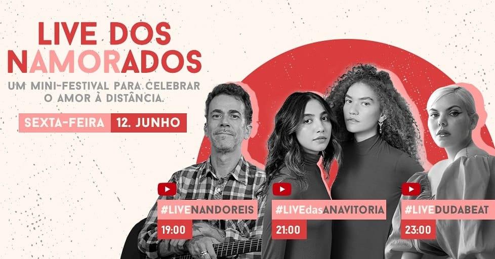 Anavitória, Nando Reis e Duda Beat anunciam live de Dia dos Namorados